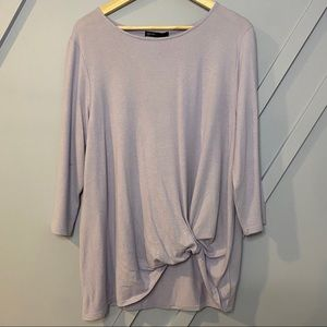 Gibson look Cozy Twist Front Pullover sweater